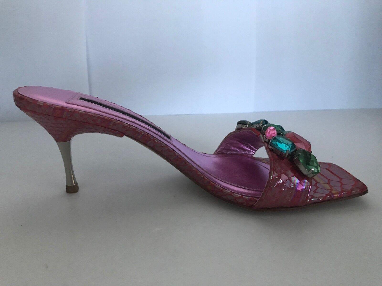 LAUNDRY By Vero SHELLI SEGAL Vero By Cuoio Slides Kitten Heels w  Rhinestones accent 7d926b