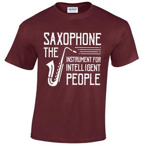 Saxophone-T-Shirt-Hommes-S-5XL-Musicien-Jazz-Joueurs-Amoureux-Cadeau-Cadeau-Idee