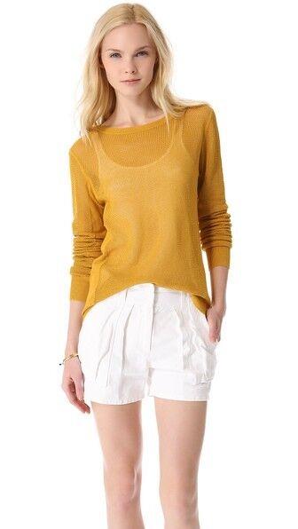 New A.L.C. Emilia Cotton Sweater  Size XS