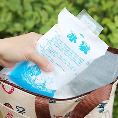 Lot de 3 Congélateur Cool Packs de Glace Gel Refroidisseur Sac Boîte Réutilisable Voyage Lunch