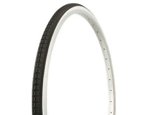 NEW-BlKE-DURO-TIRE-27-034-x-1-1-4-034-Black-White-Side-Wall-HF-112-Cycling-Cruiser