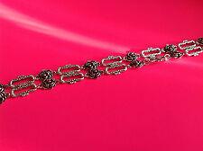 1 metre (1 piece) Flower antique silver link chain jewellery making findings
