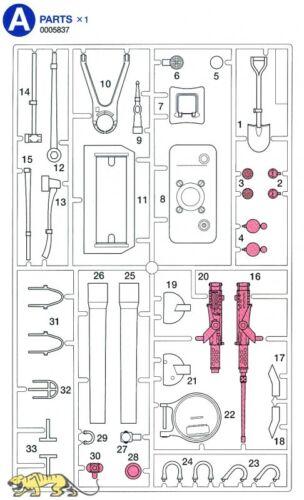 A Pièces a1-a23 pour TAMIYA SHERMAN série 56014 et 56032-1:16-0005837