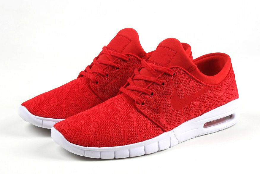 Nike SB Zoom Stefan Janoski Max UNIVERSITY rouge blanc 631303-662 sz 11 SKATE SHOE