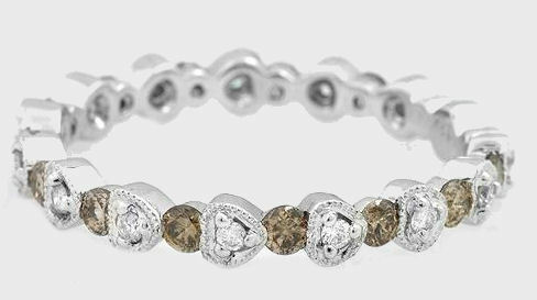 .66ctw Diamond Eternity Ring 14K Solid White gold