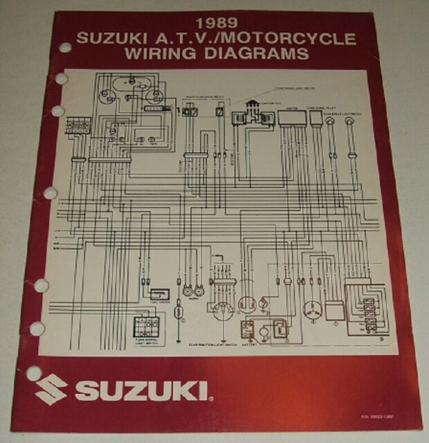 1989 Suzuki Wiring Diagram Manual Gsxr Gsx Dr Vs Gs Vs 125