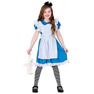 ALICE-IN-WONDERLAND-New-Classic-Storybook-Alice-Kids-Costume-5-7-years