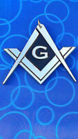 masonic Master Mason Chain Collar jewel Pendent Silver Chrome Finished