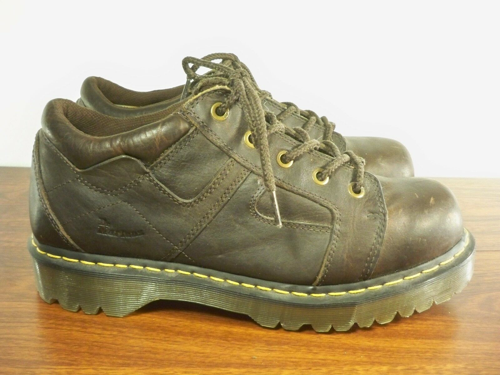 Dr. Martens 9B08 Mens Size 12 Brown Leather Chunky Casual shoes Boots Size 13 US
