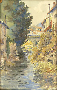 1885-? - Suitable For Men Women Useful Hans Steiner Painter German In His/her Frame Original Canal A And Children