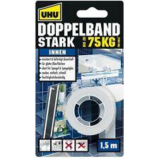 Uhu 46855 DOPPELBAND, STARK - doppelseitiges Montageklebeband