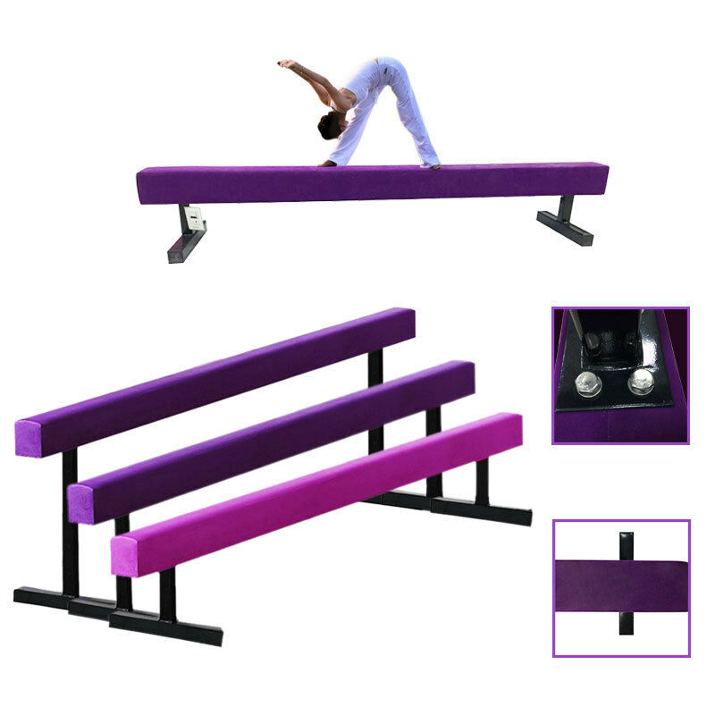 Suede Fit Folding High Gymnastics Beam Metal Feet Kids Gym Balance Beams Outdoor