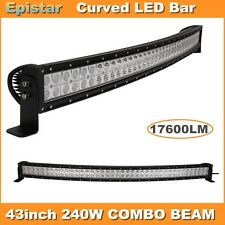 43inch 240W LED Light Bar Combo Beam Curved Work Off road Truck Boat SUV ATV
