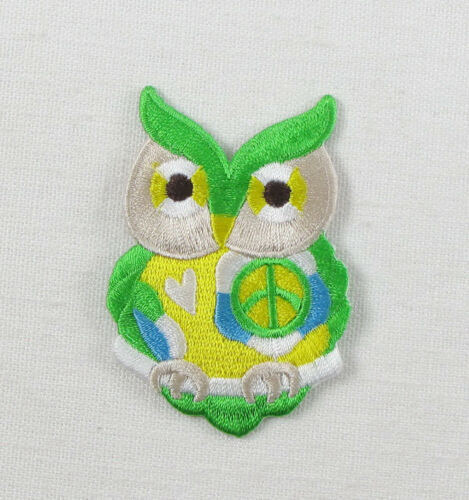 CND PEACE OWL Embroidered Iron On Sew On Patch