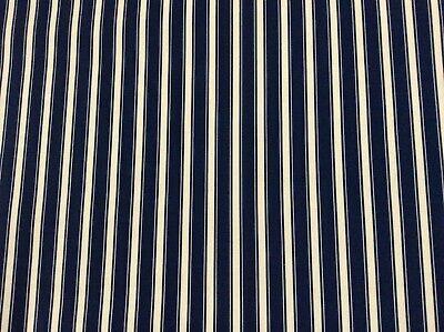 Per Meter Oilcloth fabric PVC coated Deckchair Candy Stripe Design
