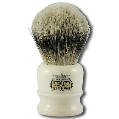 Simpsons Chubby 2 Super Badger Hair Shaving Brush with Cream Handle