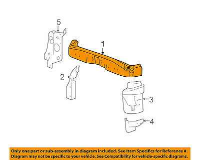 Chevrolet GM OEM 16-18 Spark Radiator Core Support-Upper Tie Bar 42581644