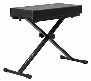 New Black Foldable Piano Bench Keyboard Seat Musician