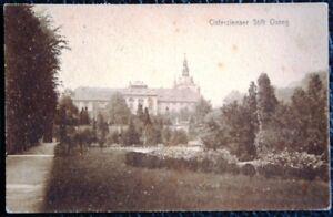 Postkarte-034-Cisterzienser-Stift-Ossegg-034-Stiftsgarten-gel-1922