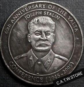 USA-Russia-Baker-lsland-1945-2005-JOSEPH-STALIN-60th-Of-The-Yalta-Fantasy-Medal