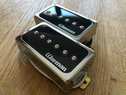 Pair of Warman HBAP90 humbucker sized P90 guitar pickups Alnico version