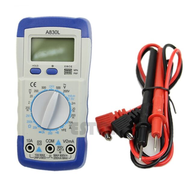 Hot Sell LCD Digital Multimeter A830L DC AC Voltage Diode Freguency Multitester