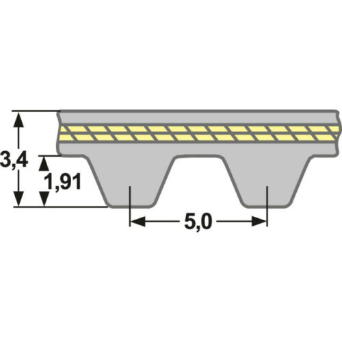 Zahnflachriemen Zahnriemen 150 S5M 390 mm Super Torque STS Einfachverzahnt
