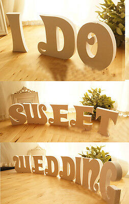 Wood Wooden Letters Alphabet For Bridal Wedding Party Home Decoration 10x1.5cm