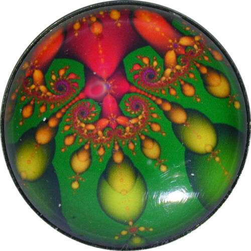 """Crystal Dome Button Mystical Spiral #28 Lg Sz 1 /& 3//8/"""" FREE US SHIPPING"""
