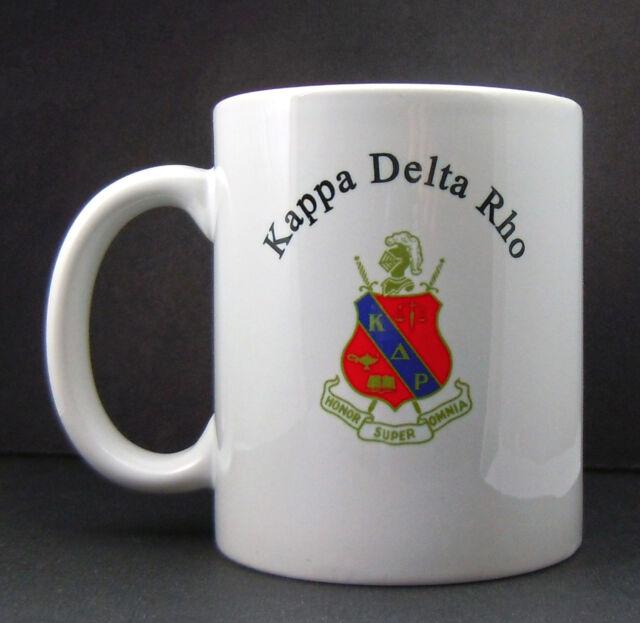 Kappa Delta Rho, ΚΔΡ, Crest Coffee Cup NEW
