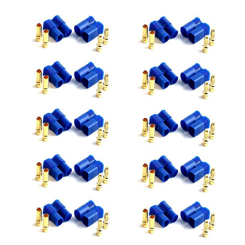 100 paia 200 pezzi ec3 PRESA  SPINA 3,5mm 3.5mm Spina oro verpolsicher 60a  grandi prezzi scontati