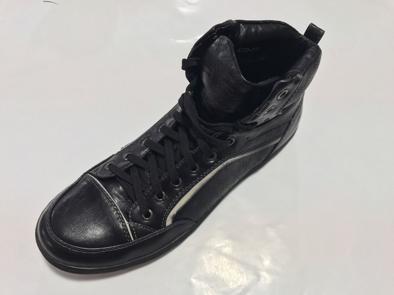 MEN'S BOHST ANKLE CASUAL BOOTS COLOR BLACK MAN MADE SOLID PATTERN