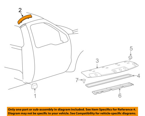 FORD OEM 99-07 F-350 Super Duty Exterior-Cab-Roof Molding Right YC3Z2551728PTM