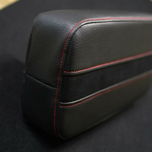 Sports Center Console Line Armrest Cushion Suede Black Accessory For HONDA Car