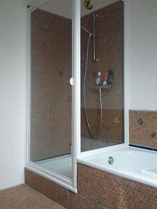 Duschabtrennung badewanne mit seitenwand  Duschkabine 90x90 185+160 cm Schwingtür + Seitenwand verkürzt ...