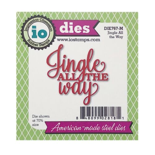Christmas Jingle All the Way Metal Die Cut Impression Obsession Cutting Dies