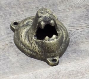 Wall-Mount-Grizzly-Bear-Bottle-Opener-Beer-Soda-Pop-Bar-Ware-Home-Man-Cave-Cabin