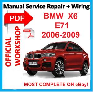 official workshop manual service repair for bmw x6 2006 2007 2008 rh ebay es