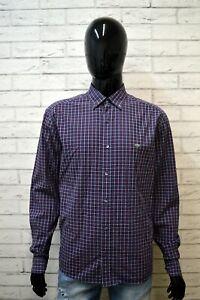 Camicia-a-Quadri-Uomo-LACOSTE-Taglia-43-XL-Maglia-Manica-Lunga-Shirt-Man-Hemd