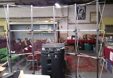 Popup Exhibit Booth Frame Cross Bars 4 Lights Case And Xtra Bars 94w Amp 91t