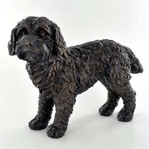 Bronze-Effect-Cockapoo-Dog-Sculpture-Statue-Ornament-Statuette-Gift