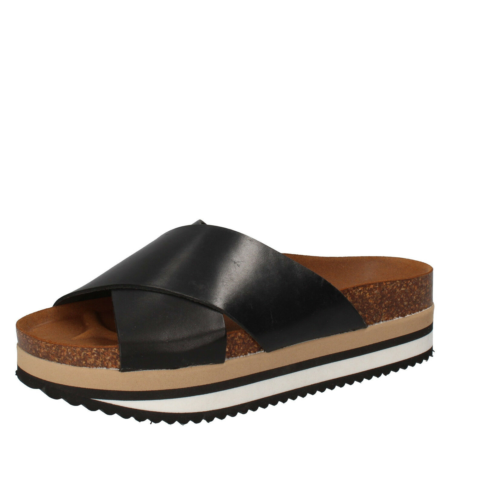 Scarpe donna sandali 5 PRO JECT 40 EU sandali donna nero pelle AC696-F 7268bb