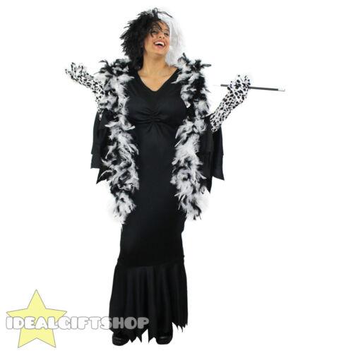 Femme deluxe evil chien lady longs poils perruque robe fantaisie accessoires film caractère