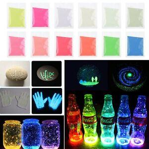 12 farben leuchtende pigment fluoreszierend leuchtet im dunkeln pulver nagel neu ebay. Black Bedroom Furniture Sets. Home Design Ideas