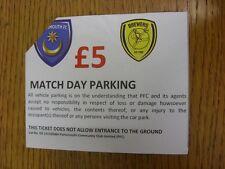 17/01/2015 Ticket: Portsmouth v Burton Albion [Match Day Parking] (corner trimme