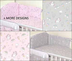 2//3//5 Piece Baby Bedding Set fit Cot 120x60cm or Cot Bed 140x70 GREY CHEVRONS