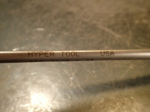 "Carbide Tipped Hyper Tool 5//16/"" .3125 x 25/"" OAL Coolant Fed Deep Hole Gun Drill"