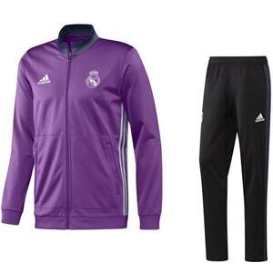 Détails sur Survetement Foot Real de Madrid Adidas Authentique neuf taille M