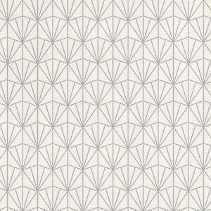 Details zu Modern Art Déco Dreiecke Tapete Weiß/Silber - Rasch 434064 Neu