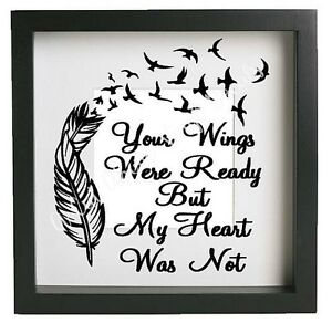Your Wings Were Ready Vinyl Decal Sticker Fits Ikea Frame 23x23cm